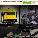Screen shot of the Thermoteknix Systems Ltd website.