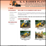 Screen shot of the K S Barber Plant Sales website.