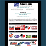 Screen shot of the Sinclair Communications plc website.