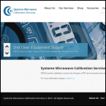 Screen shot of the Systems Microwave website.