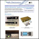 Screen shot of the Ralfe Electronics website.