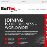 Screen shot of the BalTec (UK) Ltd website.