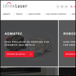 Screen shot of the Thinklaser Ltd website.