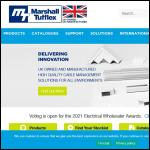 Screen shot of the Marshall-Tufflex Ltd website.
