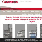 Screen shot of the Bunting Magnetics Europe Ltd website.