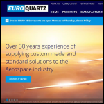 Screen shot of the Euroquartz Ltd website.