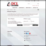 Screen shot of the DCL Components Ltd website.