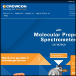 Screen shot of the Crowcon Detection Instruments Ltd website.