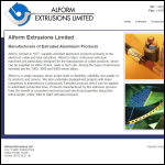 Screen shot of the Alform Extrusions Ltd website.