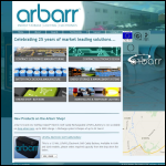 Screen shot of the Arbarr Electronics Ltd website.