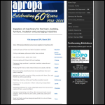 Screen shot of the Apropa Machinery Ltd website.
