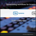 Screen shot of the Television Systems Ltd website.