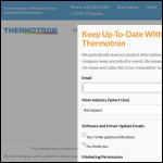 Screen shot of the Thermotron Industries website.