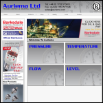 Screen shot of the Auriema Industrial Products Ltd website.