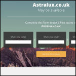 Screen shot of the Astralux Dynamics Ltd website.