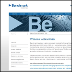 Screen shot of the Benchmark Electronics website.