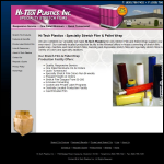 Screen shot of the Hi-Tech Plastics website.