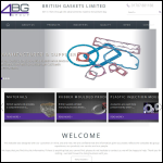 Screen shot of the British Gaskets Ltd website.