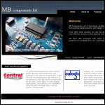 Screen shot of the MB Components Ltd website.