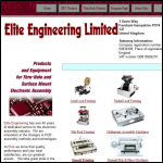 Screen shot of the Elite Engineering Ltd website.