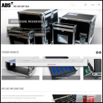 Screen shot of the ABS Cases website.