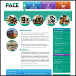 Screen shot of the Pace Components Ltd website.