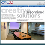 Screen shot of the CTL Audiovisual Services Ltd website.