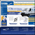 Screen shot of the Total Electrical Distributors website.