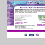 Screen shot of the Stonefield Systems plc website.