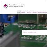 Screen shot of the Diamond Electronics Ltd website.
