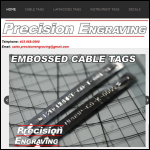Screen shot of the Precision Etching Ltd website.