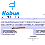 Screen shot of the Fiobus Ltd website.