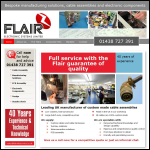 Screen shot of the Flair Electronic Systems Ltd website.