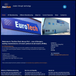 Screen shot of the Eurotech Group plc website.
