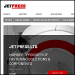 Screen shot of the JET PRESS Ltd website.