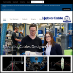 Screen shot of the Habia Cable Ltd website.