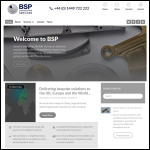 Screen shot of the BSP Engineering Services (UK) Ltd website.