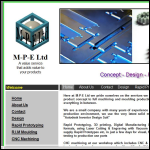 Screen shot of the Mill Precision Engineers Ltd website.