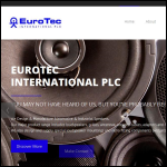 Screen shot of the Eurotec International website.