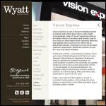 Screen shot of the Wyatt Ltd website.