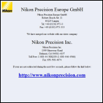 Screen shot of the Nikon Precision Europe website.