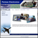 Screen shot of the Permac Electronics Ltd website.