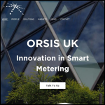 Screen shot of the Orsi UK Ltd website.