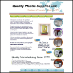 Screen shot of the Quality Plastic Supplies Ltd website.