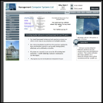 Screen shot of the Management Computer Systems Ltd website.