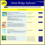 Screen shot of the Great Bridge Software website.