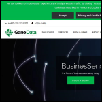 Screen shot of the GaneData website.