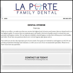 Screen shot of the Laporte Hygiene website.