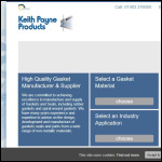 Screen shot of the Keith Payne Products Ltd website.
