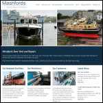 Screen shot of the Mashford Bros Ltd website.